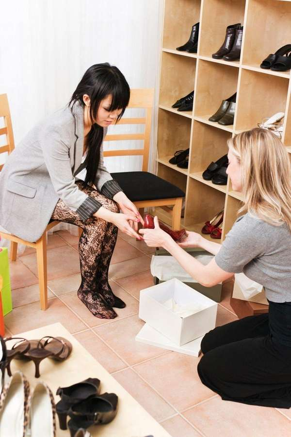 Can a shoe store require employees to buy