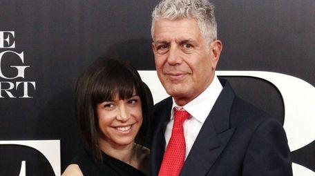 Ottavia Busia, left, and Anthony Bourdain got married