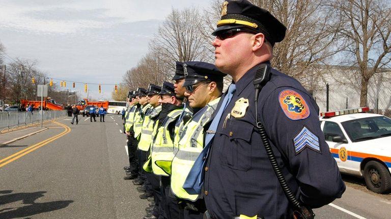 Nassau Police patrol where Donald Trump's rally was
