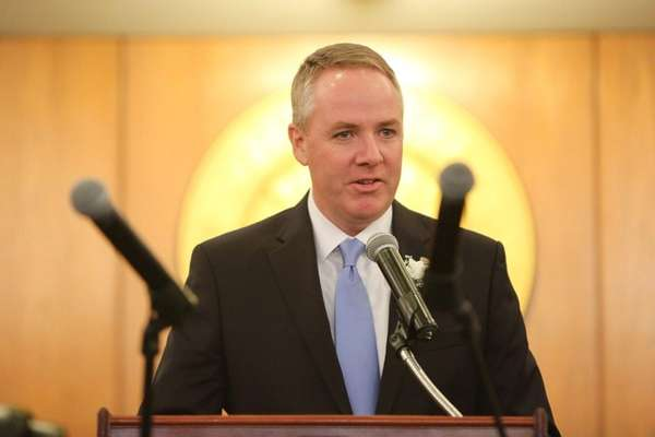 Hempstead Town Receiver of Taxes Don Clavin speaks