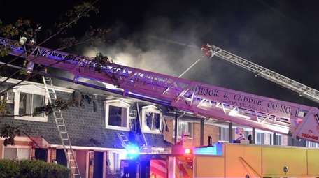 Several fire departments respond to a blaze at