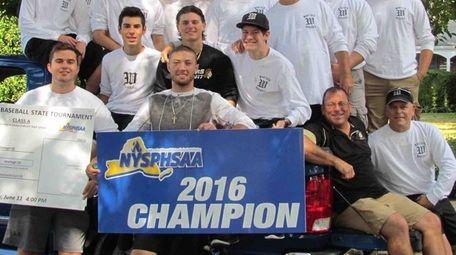 The Wantagh High School boys varsity baseball team