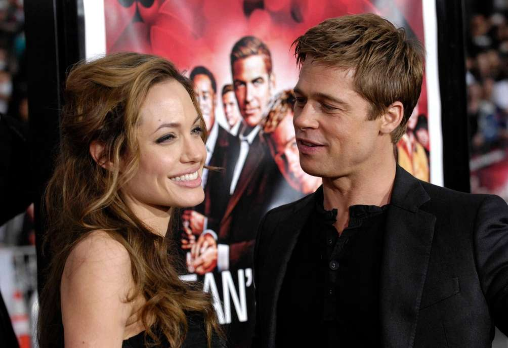 Angelina Jolie and Brad Pitt arrive at the