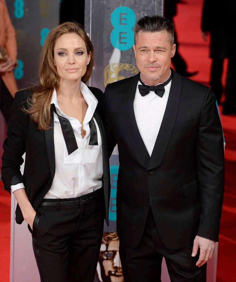 Angelina Jolie and Brad Pitt arrive on the