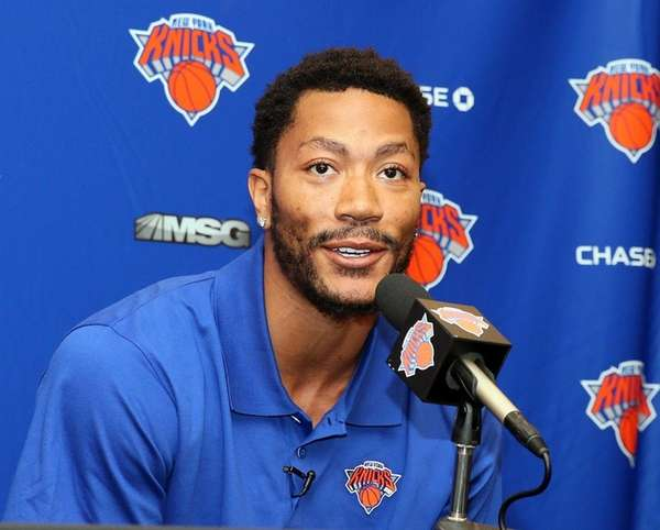 Knicks Introduce Derrick Rose at Madison Square Garden