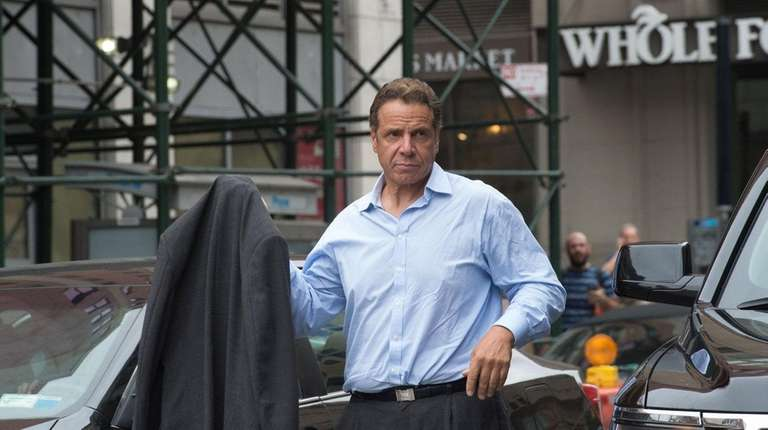New York Governor Andrew Cuomo arrives at the