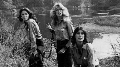 Jaclyn Smith, left, Farrah Fawcett and Kate Jackson