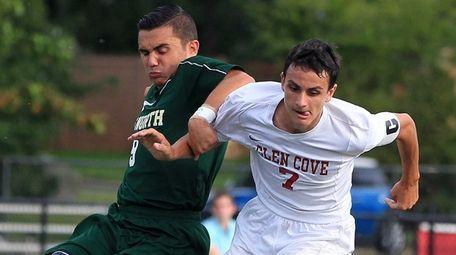 Glen Cove's Michael Morra controls the ball during
