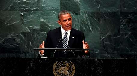 President Barack Obama addresses the 71st session of