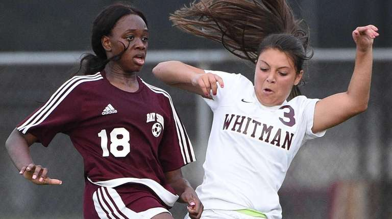 Bay Shore's Fatou Barry collides with Walt Whitman's