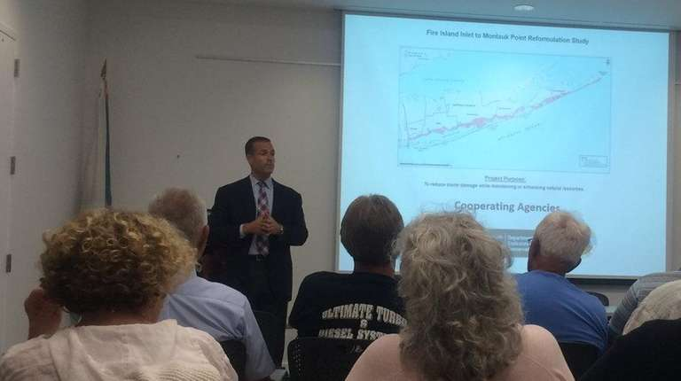 At a public hearing in Patchogue on Monday,