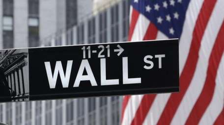 American flags fly at the New York Stock