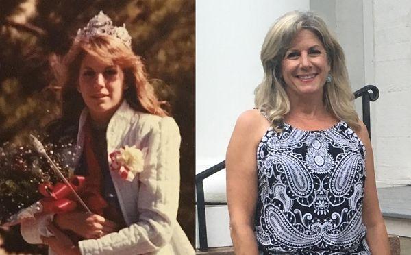 Newfield High School's homecoming queen Katherine Sarra, then