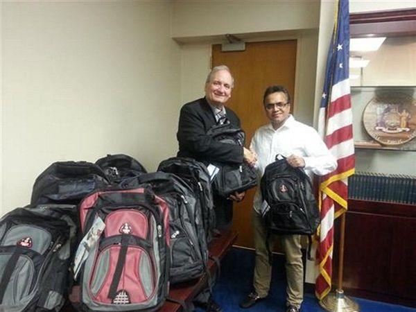 Hicksville Superintendent Carl Bonuso expresses his gratitude to