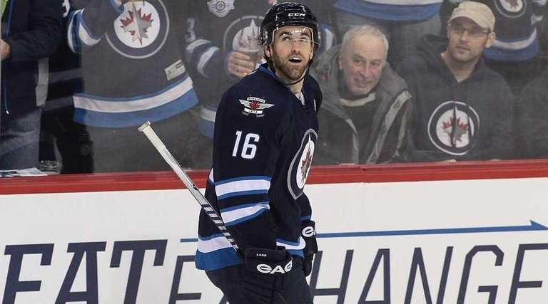 Andrew Ladd of the Winnipeg Jets, playing in