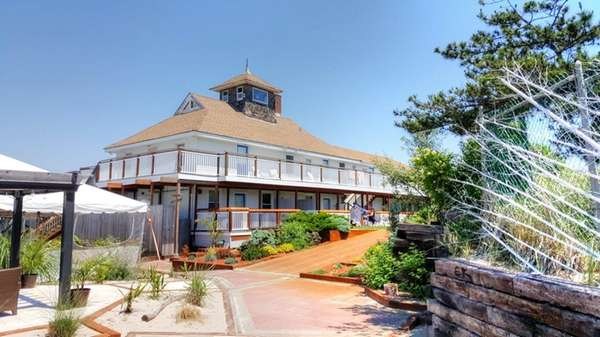 The first portion of the Fire Island Hotel