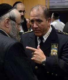 NYPD Chief of Department Carlos M. Gomez speaks