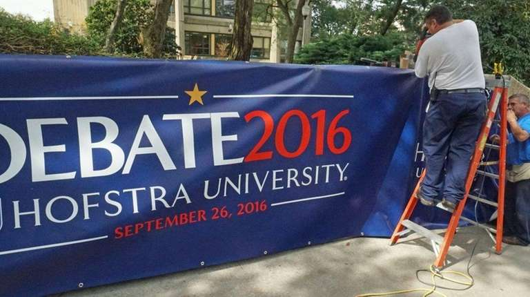 Hofstra University is preparing to host the first