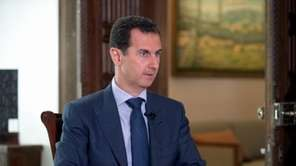 Syrian President Bashar Assad speaks to The Associated