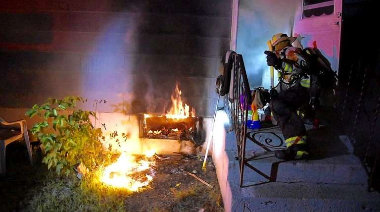 The North Amityville Fire Company responds to a