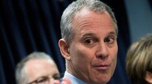 New York Attorney General Eric Schneiderman speaks as