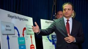 U.S. Attorney Preet Bharara announces corruption charges against