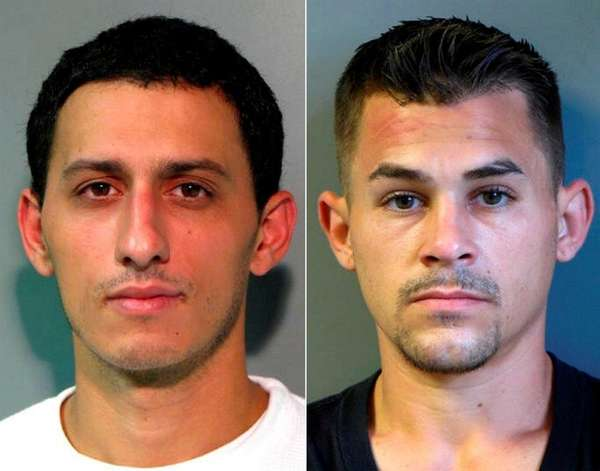 Frank Merlo, 29, left, and Gavriel Charalambous, 28,