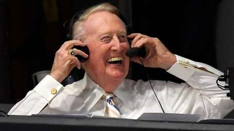 The Dodgers' Hall of Fame announcer Vin Scully