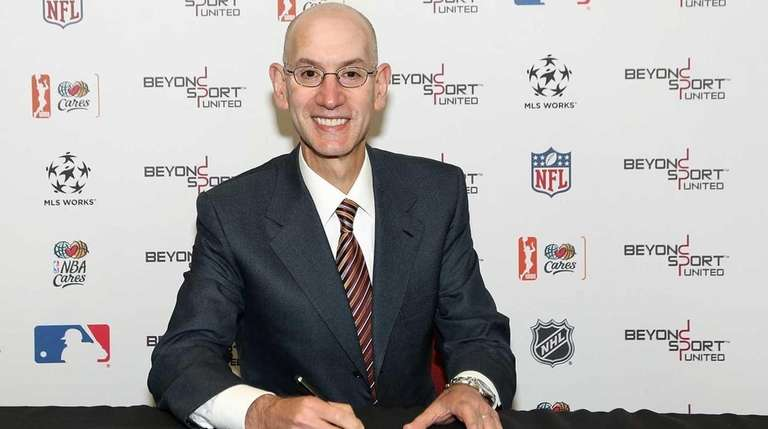 NBA Commissioner Adam Silver signs the Commissioners Letter,