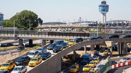 Heavy traffic from ongoing construction is shown Thursday,