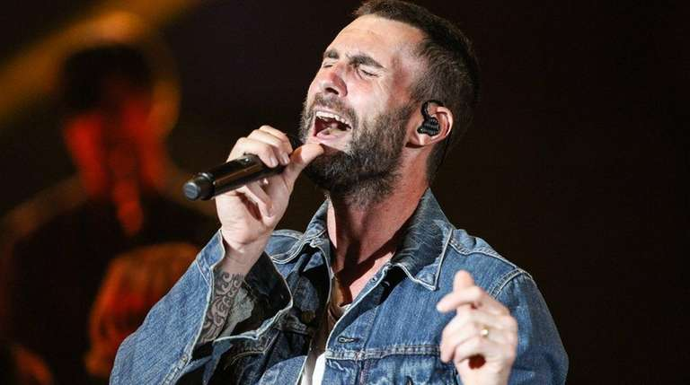 Adam Levine of Maroon 5 performs at a