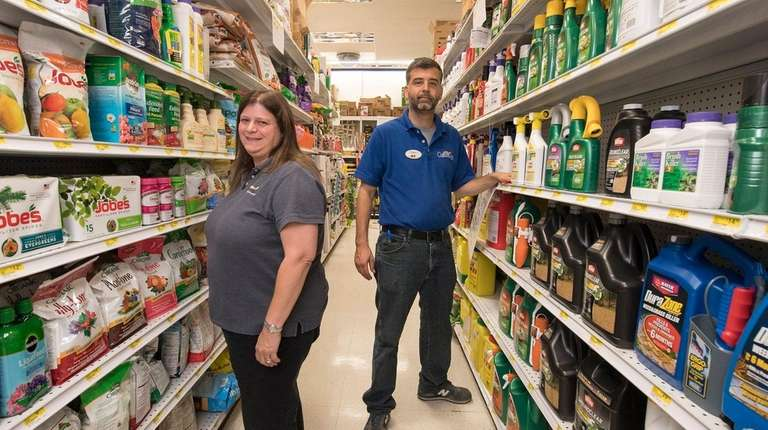 Costello's Ace Hardware's district manager Tina DeCarlo and