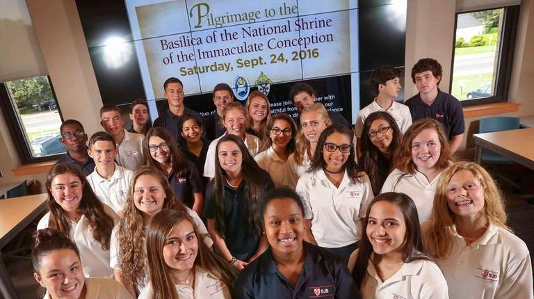 Thirty-five students from St. John the Baptist High