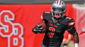 Stony Brook's Sherman Alston Jr. returns a punt