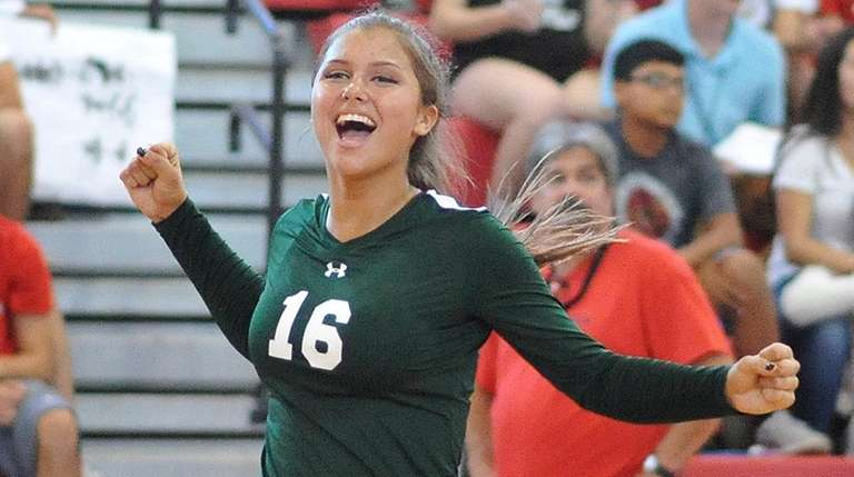 Sophie Dandola of Seaford reacts after he team