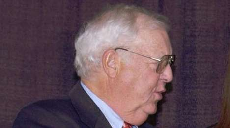 Walter Bush Jr., left, president of USA Hockey,