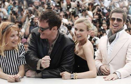 From right, American actor Brad Pitt, German actress