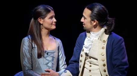 Phillipa Soo and Lin-Manuel Miranda in