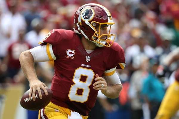 Quarterback Kirk Cousins of the Washington Redskins looks