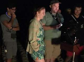 Director and actress Lena Dunham films an episode