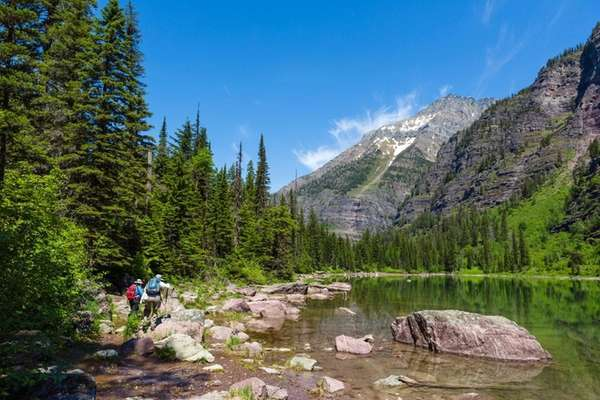 Avalanche Lake trails in Montana's Glacier National Park