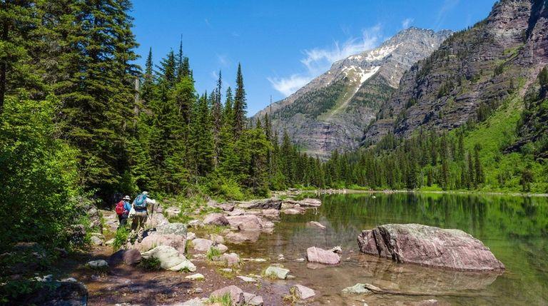 Avalanche Lake trails in Montana's Glacier National Park