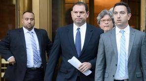 Joseph Percoco, center, a former top aide to