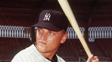 New York Yankees slugger Roger Maris is shown