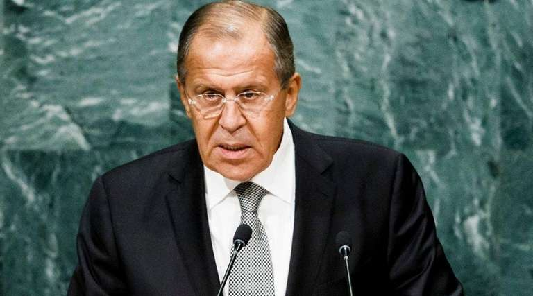 Sergey Lavrov, Russia's foreign minister, addresses the General