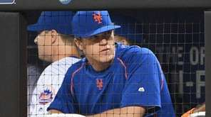 New York Mets pitcher Noah Syndergaard looks on