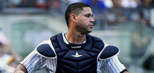Yankees catcher Gary Sanchez on Sunday, Sept. 11,
