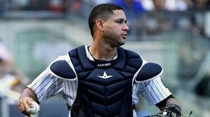 Yankees catcher Gary Sanchez on Sunday, Sept. 11,
