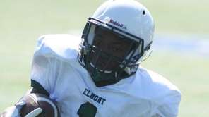 Elmont wide receiver Lucus Mathieu catches a pass