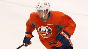 Shane Prince of the New York Islanders skates